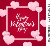 happy valentine day with 3d... | Shutterstock .eps vector #1261918756