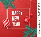 happy new year greeting card.... | Shutterstock .eps vector #1261919953