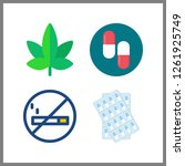 4 addiction icon. vector... | Shutterstock .eps vector #1261925749