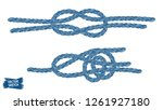 nautical knots. rope sketches.... | Shutterstock .eps vector #1261927180