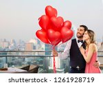 valentines day  love and people ... | Shutterstock . vector #1261928719