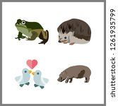 4 wildlife icon. vector... | Shutterstock .eps vector #1261935799