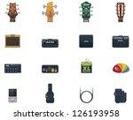 Vector Guitar Icons Set. Part ...