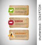 vector old cardboard interface... | Shutterstock .eps vector #126197234