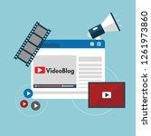 concept blog content  blogging  ... | Shutterstock .eps vector #1261973860