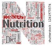conceptual nutrition health...   Shutterstock . vector #1261975576