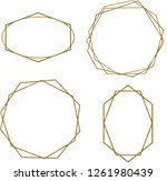 gold polygonal frame with...   Shutterstock . vector #1261980439