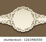 vintage label  cutout paper...   Shutterstock . vector #1261980550