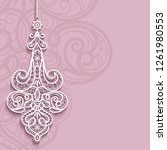 elegant lace pendant on... | Shutterstock . vector #1261980553