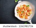 tasty appetizing fried grilled... | Shutterstock . vector #1261981726