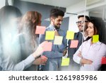 group of business people... | Shutterstock . vector #1261985986