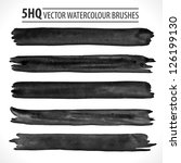 set of watercolor brushes.... | Shutterstock .eps vector #126199130
