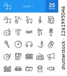 music line icons | Shutterstock .eps vector #1261995046