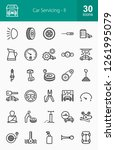 car servicing line icons | Shutterstock .eps vector #1261995079