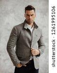 portrait of handsome man in...   Shutterstock . vector #1261995106