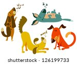 cute dogs set. | Shutterstock .eps vector #126199733
