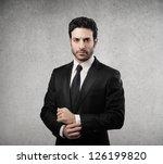portrait of a serious... | Shutterstock . vector #126199820