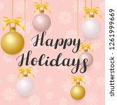 happy holidays. illustration... | Shutterstock .eps vector #1261999669