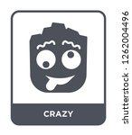 crazy icon vector on white... | Shutterstock .eps vector #1262004496