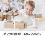 little girl  eight months of... | Shutterstock . vector #1262005240