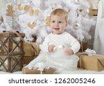 pretty little girl  eight... | Shutterstock . vector #1262005246