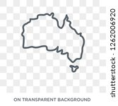 australian continent icon....   Shutterstock .eps vector #1262006920