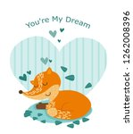 fox for valentine's day... | Shutterstock .eps vector #1262008396