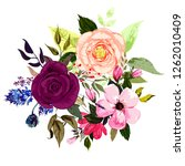 a large bouquet of different... | Shutterstock .eps vector #1262010409
