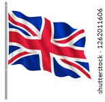 flag of united kingdom with... | Shutterstock .eps vector #1262011606