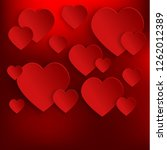 happy valentines day background ... | Shutterstock . vector #1262012389