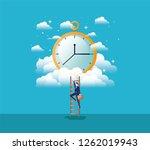 chronometer timer with... | Shutterstock .eps vector #1262019943