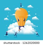 businesswomen team with bulb | Shutterstock .eps vector #1262020000