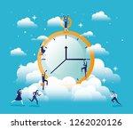 chronometer timer with... | Shutterstock .eps vector #1262020126