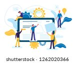 flat vector illustration of... | Shutterstock .eps vector #1262020366