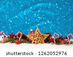 christmas decoration on the... | Shutterstock . vector #1262052976