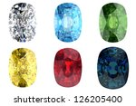 set of gems in different colors | Shutterstock . vector #126205400