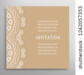 invitation or card template... | Shutterstock .eps vector #1262057353