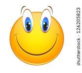 cheerful smiley | Shutterstock .eps vector #126205823