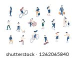 vector isomeric people set... | Shutterstock .eps vector #1262065840