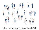 isomeric business people vector ...   Shutterstock .eps vector #1262065843