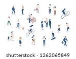 vector isomeric people set... | Shutterstock .eps vector #1262065849