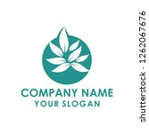 tree leaf logo template | Shutterstock .eps vector #1262067676