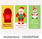 vector illustration of winter... | Shutterstock .eps vector #1262069560