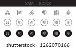 small icons set. collection of... | Shutterstock .eps vector #1262070166