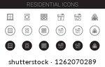 residential icons set.... | Shutterstock .eps vector #1262070289