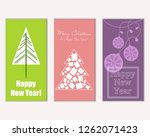 merry christmas and happy new... | Shutterstock .eps vector #1262071423