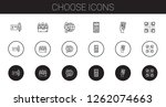 choose icons set. collection of ... | Shutterstock .eps vector #1262074663