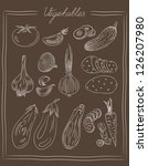vintage list of culinary... | Shutterstock . vector #126207980