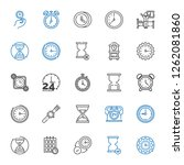 minute icons set. collection of ... | Shutterstock .eps vector #1262081860