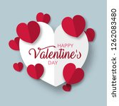 happy valentines day greeting... | Shutterstock .eps vector #1262083480